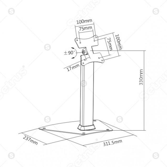 Giá đỡ trưng bày màn hình máy tính