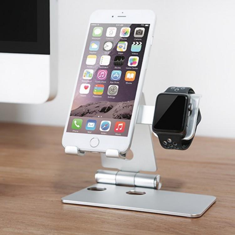 Giá đỡ điện thoại và Apple Watch 2 trong 1